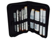 Copic Ciao 5+1 conjunto de tono gris marcadores con punta doble Plus 0.3 Fineliner