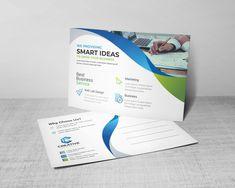 Stunning Corporate Postcard Design Template 002192 Event Ticket Template, Postcard Template, Postcard Design, Postcard Size, Letterhead Template, Brochure Template, Lab Logo, Print Design, Graphic Design