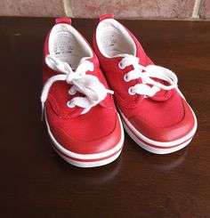 Vintage Keds Baby   Toddler Red Tennis shoes sneakers size 7 1 2  Keds f844f2502c1