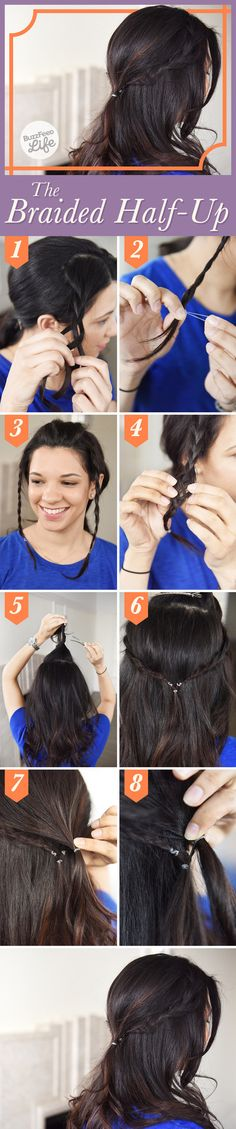 The Braided Half-Up   26 Incredible Hairstyles You Can Learn In 10 Steps Or Less