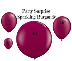 Burgundy Balloons latex Jumbo 36 16 11 5 by PartySurprise on Etsy