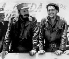 Fidel Castro and She Guevara, Fidel Castro, Commander in chief of the revolution, together with Guevara one of the principals leaders of the revolutionary army that took over in january of 1959.
