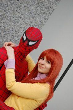 Mary Jane Watson & Spiderman cosplay by Crystal Charmer on Cosplay Island