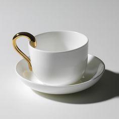 Mine Tekopp, Vit/Guld 595 kr. - RoyalDesign.se