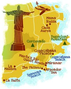 Rio de Janeiro map by Robert Littleford