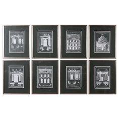 Found it at Wayfair - Architecturals Vintage 8 Piece Framed Painting Print Set