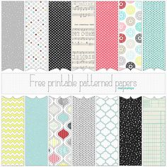 Standard or letter size (8.5 x 11 inch) Christmas 2012 JPG Patterned paper set (free papers & overlay) 350dpinew set