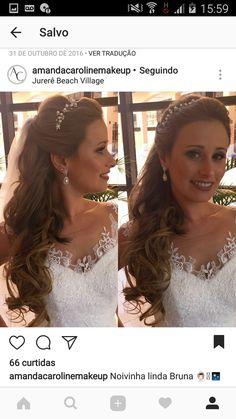 Wedding Hair And Makeup, Bridal Hair, Hair Makeup, Headband Hairstyles, Wedding Hairstyles, Christian Wedding Gowns, Demi Lovato, Bridal Looks, Prom Hair