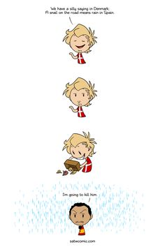 A snail in the hand is better than 10 on the roof Denmark Hetalia, Satw Comic, History Jokes, Cool Costumes, Best Dad, What Is Like, Funny Comics, Dumb And Dumber, Funny Jokes
