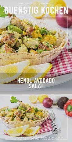 Das Rezept für einen farbenfrohen Hendl Avocado Salat ist nicht nur im Handumdrehen gemacht, sondern auch sehr einfach und preiswert in der heimischen Küche zu kochen. Nicht nur im Sommer ein wahrer Genuss. #food #recipes #rezepte #yummy #ideen Convenience Food, Salad Recipes, Trommler, Delish, Salads, Low Carb, Mexican, Chef, Ethnic Recipes