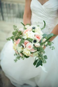 2014 Wedding Trend: Waterfall Bouquets - Cascading Bouquets by Bells & Whistles #OuterBanksWedding #OBX #OuterBanks #destinationwedding #bouquettrends