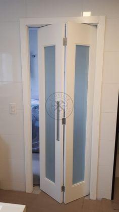 House Design, Door Design, Interior Columns, Bright Decor, Space Saving Doors, Room Doors, Home Office Furniture Desk, Bathroom Doors, Slider Door