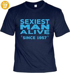 T-Shirt zum 60. Geburtstag Sexiest Man Alive Since 1957 Geschenk zum 60 Geburtstag 60 Jahre Geburtstagsgeschenk 60-jähriger Gr: 5XL (*Partner-Link)