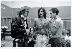 Elton John, Mick Jagger and Charlie Watts