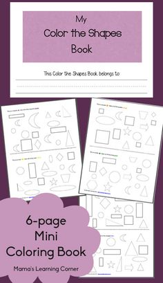 Download a free mini-coloring book for your Preschooler: Color the Shapes!