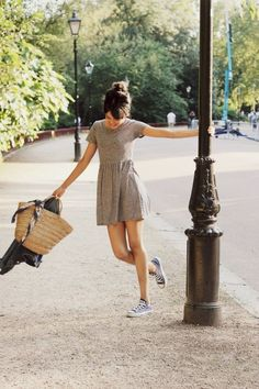 casual summer style - Casual Dresses - Ideas of Casual Dresses Casual Summer Dresses, Cute Summer Outfits, Cute Outfits, Casual Outfits, Skirt Outfits, Spring Outfits, Summer Clothes, Dress Summer, Simple Outfits For Teens