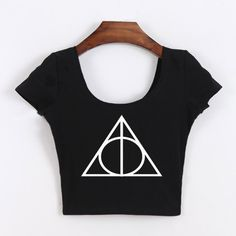 Deathly Hallows Symbol Top //Price: $16.49 & FREE Shipping // #peterpettigrew #nevillelongbottom #prongs #jewelry #snitch