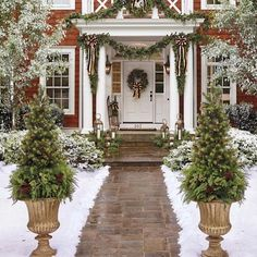 Asheville Estate Cordless Greenery Collection - All For Garden Christmas Porch, Outdoor Christmas Decorations, Diy Christmas Ornaments, Christmas Balls, Christmas Fun, Christmas Wreaths, Christmas Fireplace Mantels, Christmas Staircase, Christmas Planters