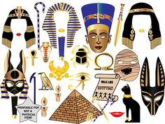"""Ancient Egypt Photo Booth Props: """"EGYPT THEME PARTY"""" Eyptian photo booth,Egyptian party,Pharaoh photo booth,Printable photobooth,King Tut"""