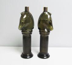 Jahrgang zwei 2 Avon Glas Parfüm Flasche Eau De von EbyVintage