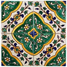 azulejos fabric, wallpaper & home decor - Spoonflower Spanish Home Decor, Mediterranean Tile, Moroccan Art, Moroccan Tiles, Tile Stairs, Small Balcony Design, Glass Photography, Italian Tiles, Ceramic Mosaic Tile