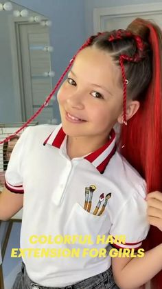 Rainbow Waffles, Colored Hair Extensions, Bedroom Decor For Teen Girls, Braids For Black Hair, Medium Hair Styles, Easy Hairstyles, Hair Color, Cute, People