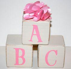 ABC Alphabet Blocks  Children's Wooden Decorative by Booksonblocks, $18.00