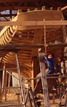 "Le cotre cordier ""Reder Mor"" en construction. Brittany"