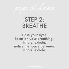 yoga at home // part 2: breathe