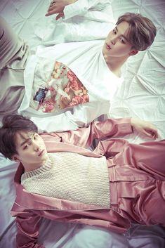Jimin and Suga ❤ WINGS Concept Photo 2 (Yoongi has damn black hair! I knew it!  YOONMIN! THAT NIPPLE! YOONMIN! YOONGI WITH BLACK HAIR! YOONMIN!) #BTS #방탄소년단