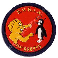 Scudetto plastificato 214° Gruppo Aeronautica Militare http://www.tuttomilitare.it/214-gruppo.asp