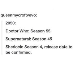 doctor who funny | Tumblr Sherlock though *starts laughing and then crying/twitching in a ball in the corner*