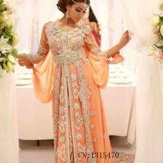 De Lujo de largo Caftán Marocain Islámica Abaya en Dubai Vestido de Noche 2016…