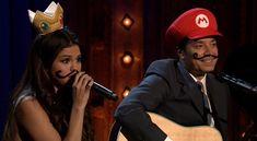 """Adorable! Selena Gomez and Jimmy Fallon sing """"Mario Kart Love Ballad"""""""