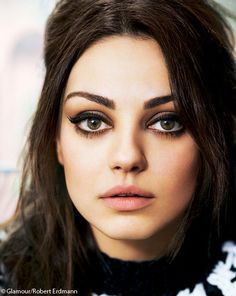 "Mila Kunis | Makeup. perfect for an ""edgyish"" shoot"
