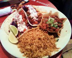Fish tacos -- especially from South Beach Bar and Grille.