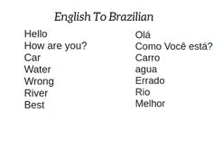 38 Best English To Brazilian Images