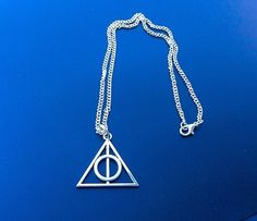Deathly Hallows silver necklace, Mens necklace, Harry Potter, Game of Thrones £10.00