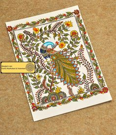 Shinjini`s Art – Indian Folk Art (Madhubani, Kalamkari, Gond) Indian Traditional Paintings, Indian Art Paintings, Traditional Art, Colorful Paintings, Peacock Painting, Madhubani Painting, Fabric Painting, Mural Painting, Kalamkari Painting