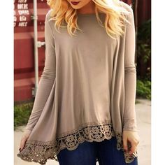 Stylish Round Neck Long Sleeve Asymmetrical Hollow Out Women's T-Shirt