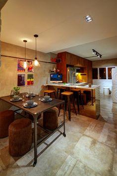 HDB 4 Room ANG MO KIO - HDB 4 Room - Dining Room. Design by Artrend Design Pte Ltd