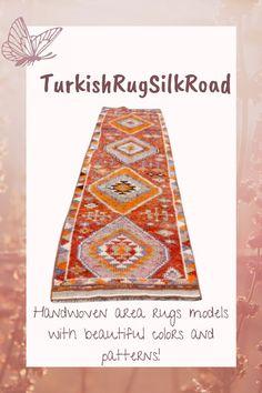 Turkish area rug, Vintage orange herki rug, Handmade rug, 2.6 x 11.7 Bohemian rug, Home decor, Bedroom rug, Wool rug, Natural rug Rug Loom, 4x6 Rugs, Rustic Rugs, Natural Rug, Tribal Rug, Handmade Rugs, Wool Rug, Vintage Rugs, Bohemian Rug