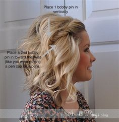 "23 Five-Minute Hairstyles For Busy Mornings this is the cutest ""medium length hair style"" iv'e seen <3"