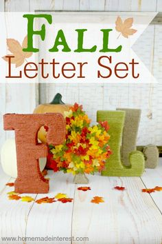 Home. Made. Interest. | Fall Decor Idea – Fall Letter Set | http://www.homemadeinterest.com #tpppfeature