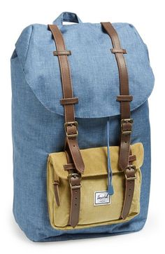 Free shipping and returns on Herschel Supply Co. 'Little America' Backpack at Nordstrom.com. A woven chambray finish and corduroy accent panels add to the laid-back vibe of a durable backpack, equipped with a spacious main compartment with laptop sleeve and an exterior pocket for additional storage needs.