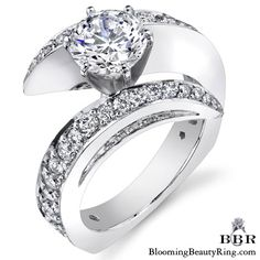 1.15 ctw. 14K Gold Diamond Engagement Ring – nrd442 | Unique Engagement Rings for Women by Blooming Beauty Jewelry