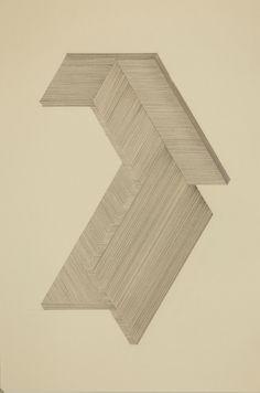"untitled (geometry) 2012_12_09 graphite on manila tagboard 18"" x 12"" (45.7 x 30.5)cm Matt Niebuhr West Branch Studio - www.mattniebuhr.com - shop.mattniebuhr.com ---Private collection: Arlington, Virginia---"