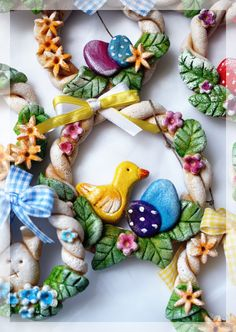 Salt Dough Easter Wreath