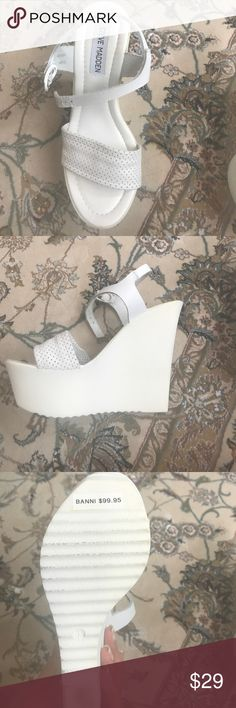 White wedges Cute summer sandals. Steve Madden Shoes