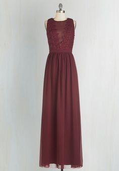 Elegance Again Dress by Chi Chi London - Long, Woven, Red, Solid, Special Occasion, Maxi, Sleeveless, Crochet, Sheer, Crew, Homecoming, Prom